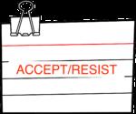 notecard accept:resist