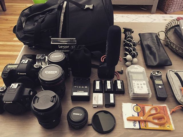 Getting ready for the first wedding of wedding season! #everglowproductions #weddingfilm #canon #sigma35mmart #zoom #rode #lexar #manfrotto