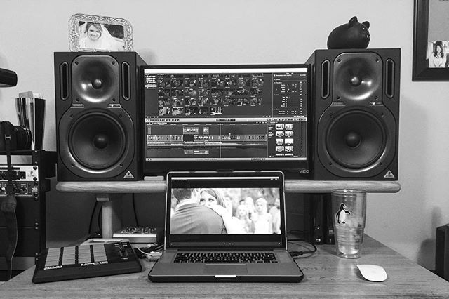 So glad to have the edit station back up and running after our big move so we can get some films out to you guys! #hustle #apple #behringer #finalcutprox #canon #piggybank