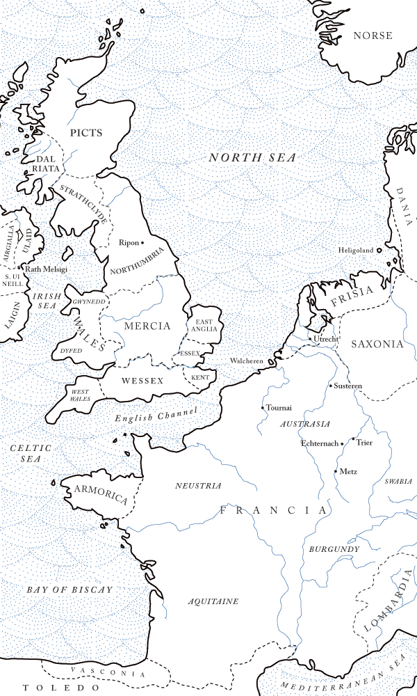 Northwestern Europe in the seventh century