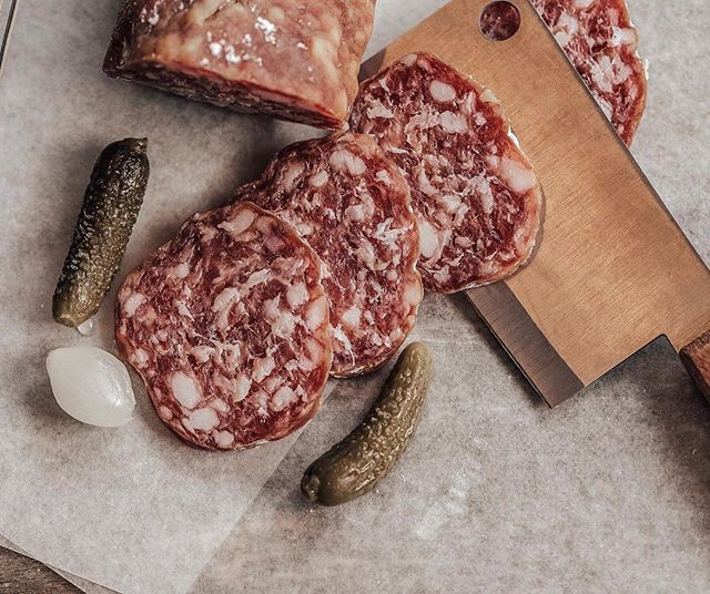 One of our favourite lunch pairings. When lunch meats like salami are high in fat, it's best to pair with a red wine that has structure, acidity and some tannins to cut the perception of tasting the fat.