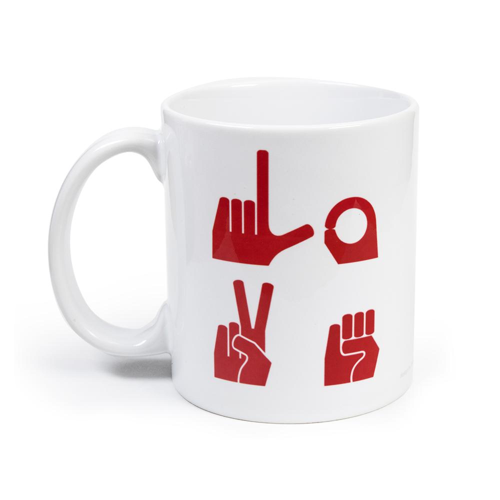 LOVE Mug Red