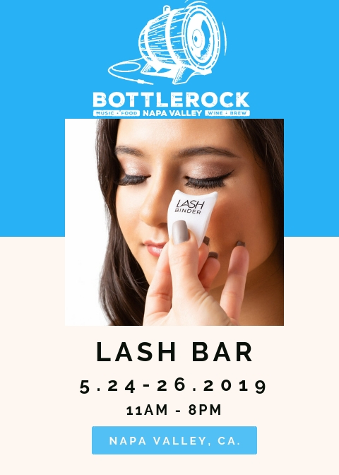 Join Cassandra and her team for Lash & makeup application at BottleRock over memorial Day weekend!  Get your ticket before they sell out!