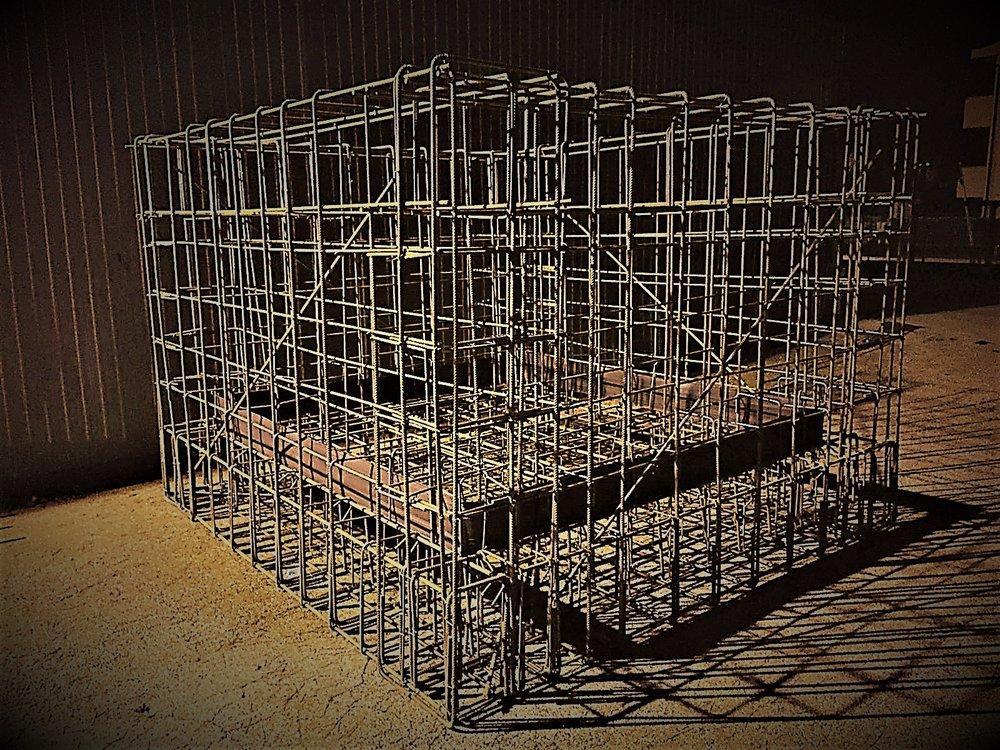 Ferro lavorato in gabbie
