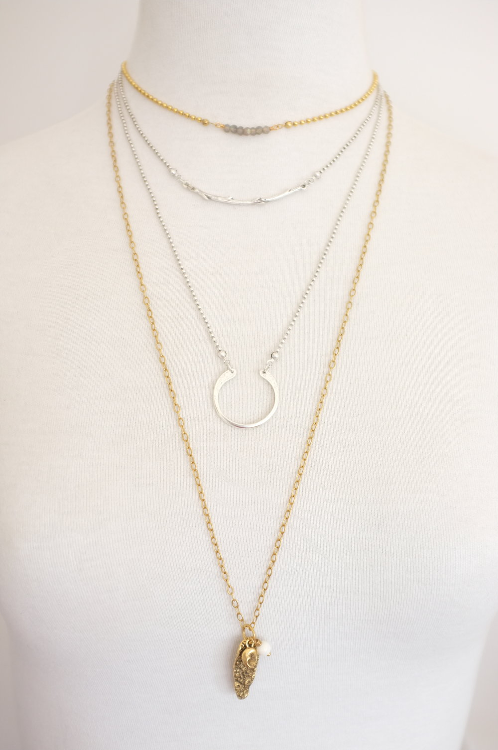 Necklace length options - Extra short 15 inchShort 16 inchMid 21 inchLong 30 inch