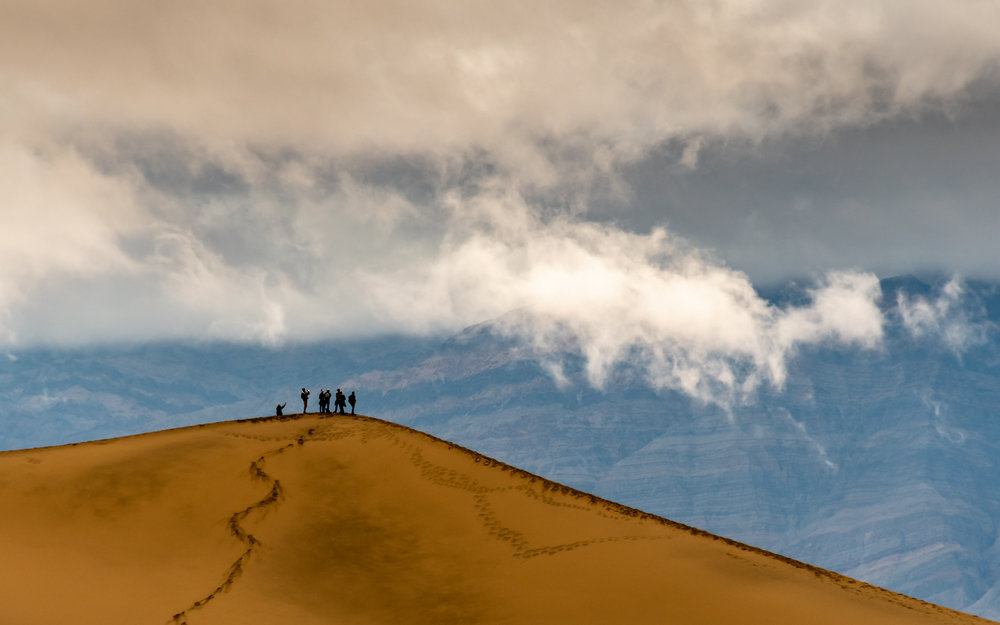 Storm Clouds Over Mesquite Dunes - Death Valley