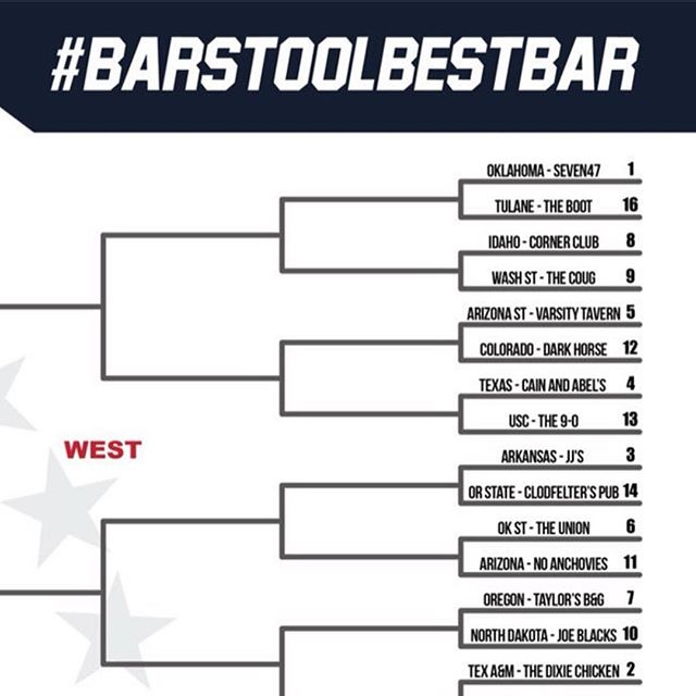 You read that right. We locked in the 1 seed for @5thyear's #BarstoolBestBar. 💥🍻🍾 Follow @5thyear on @twitter for info on how to vote for us moving forward. Voting starts Thursday! #letswinthis #marchmadness