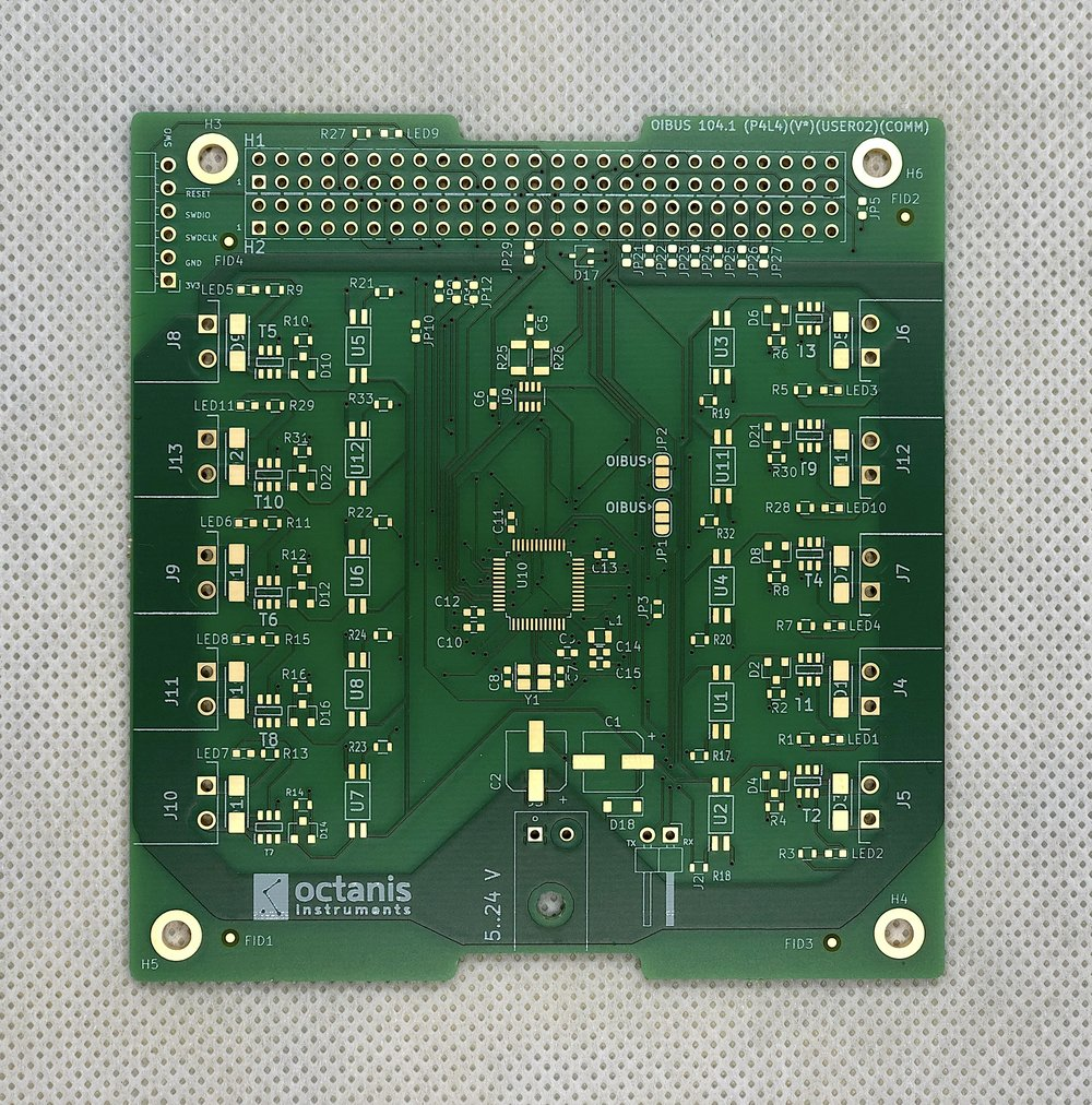 A PCB made by Octanis Instruments OÜ.