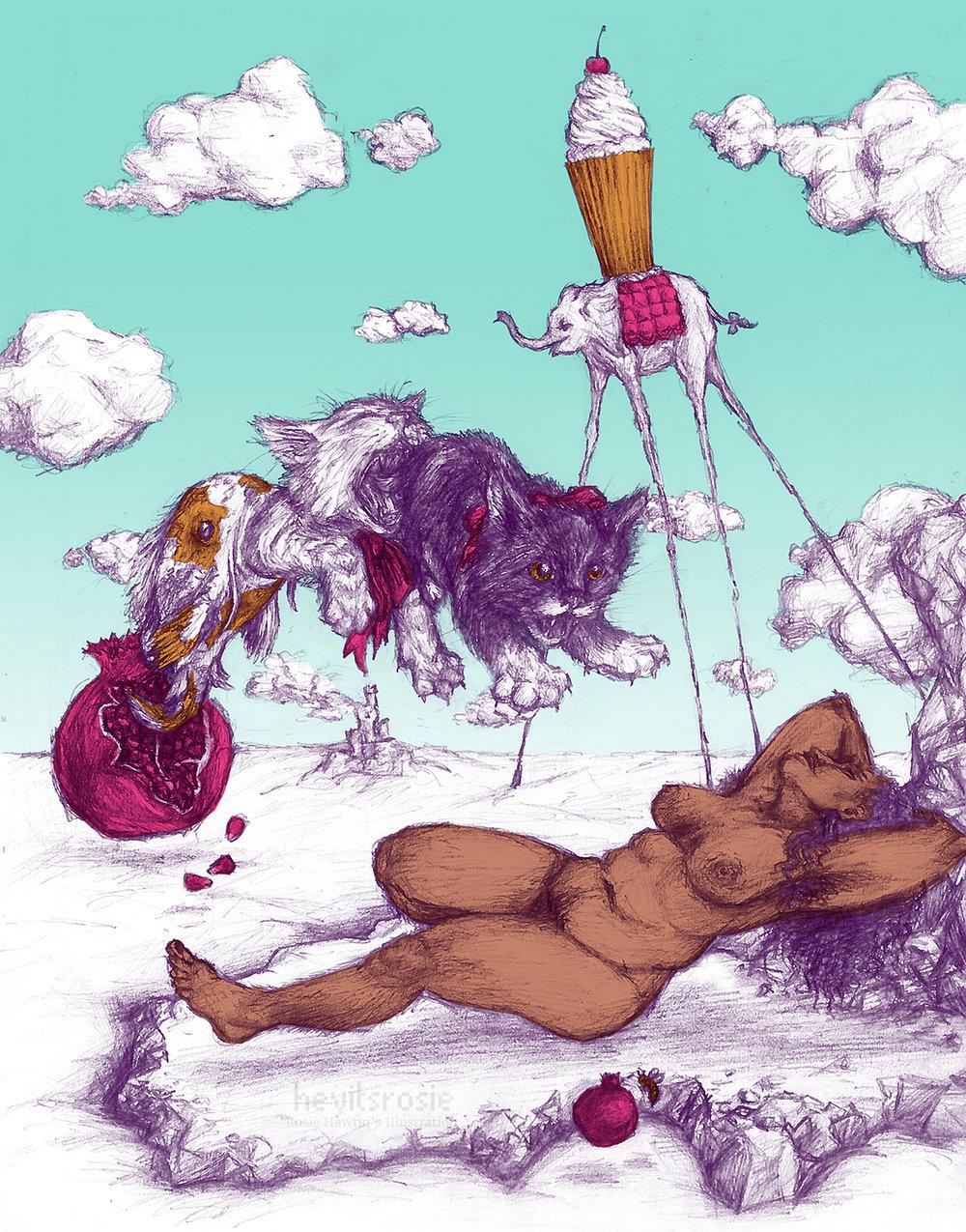 Illustration inspired by Dali