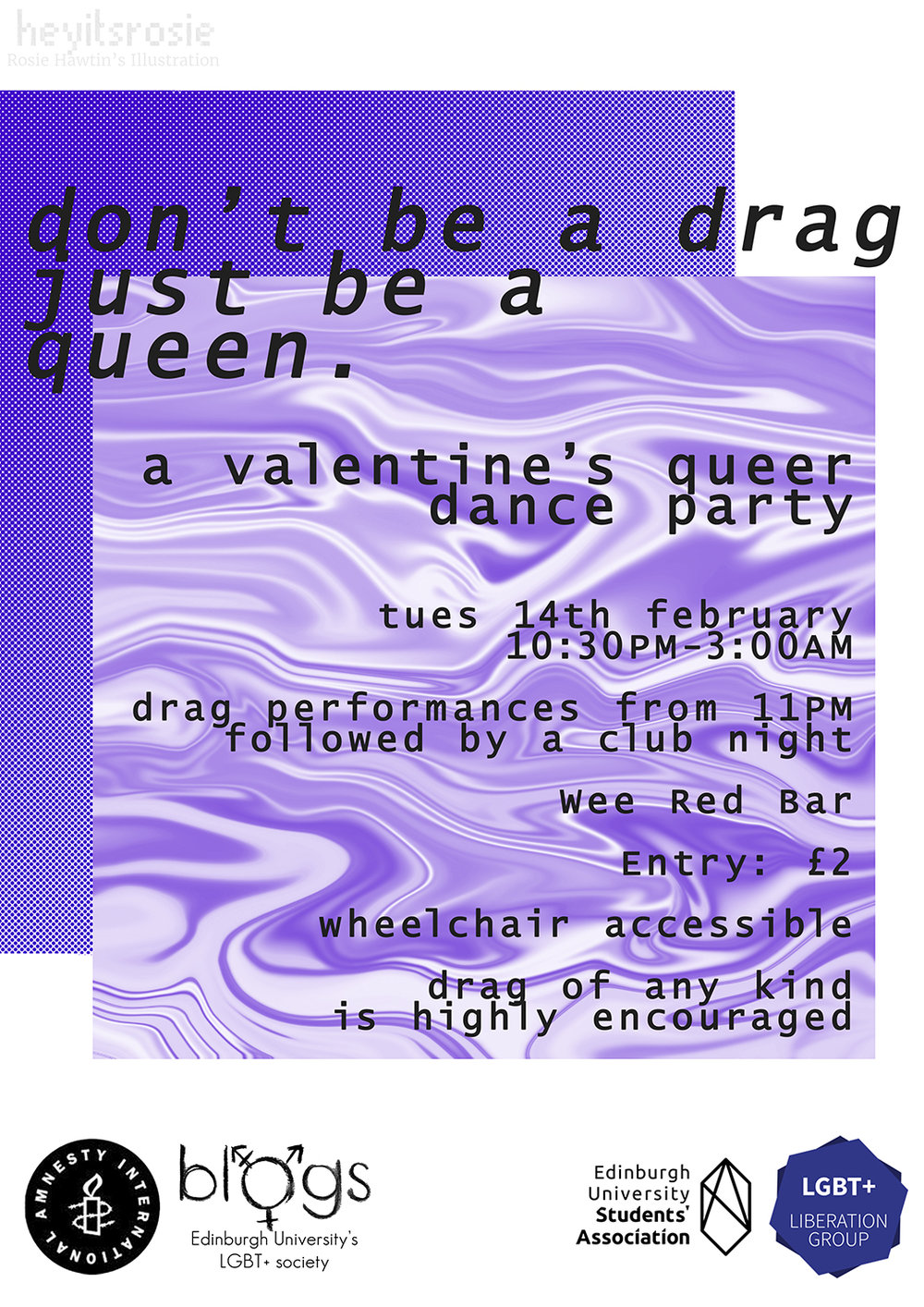 Don't Be A Drag Poster