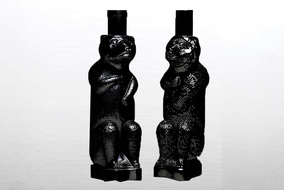 Kümmel Black Bear Glass