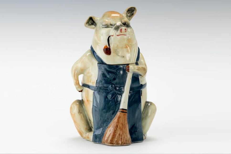 Majolica Pig Humidor