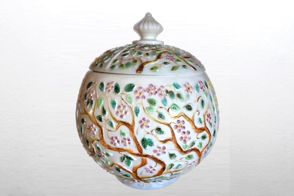 Portland Glass Co Biscuit jar