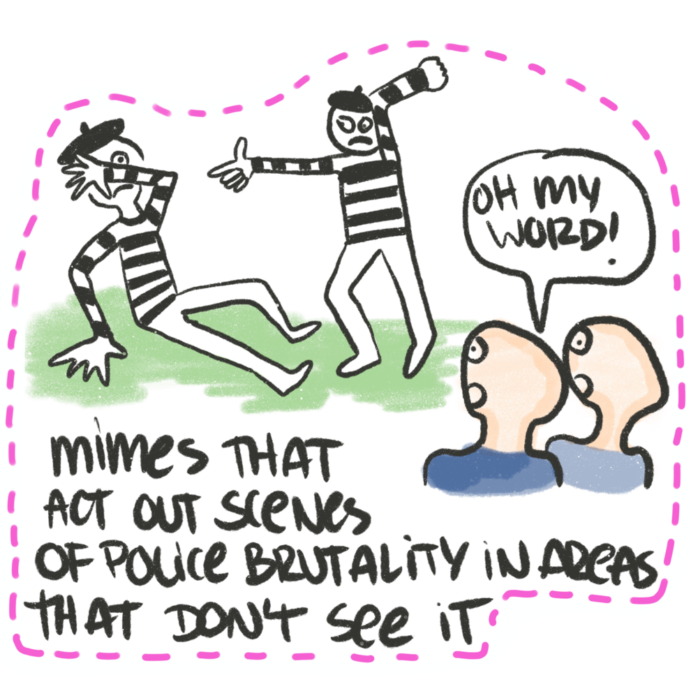 Actimists - Mime-Activists available for hire in your suburb!