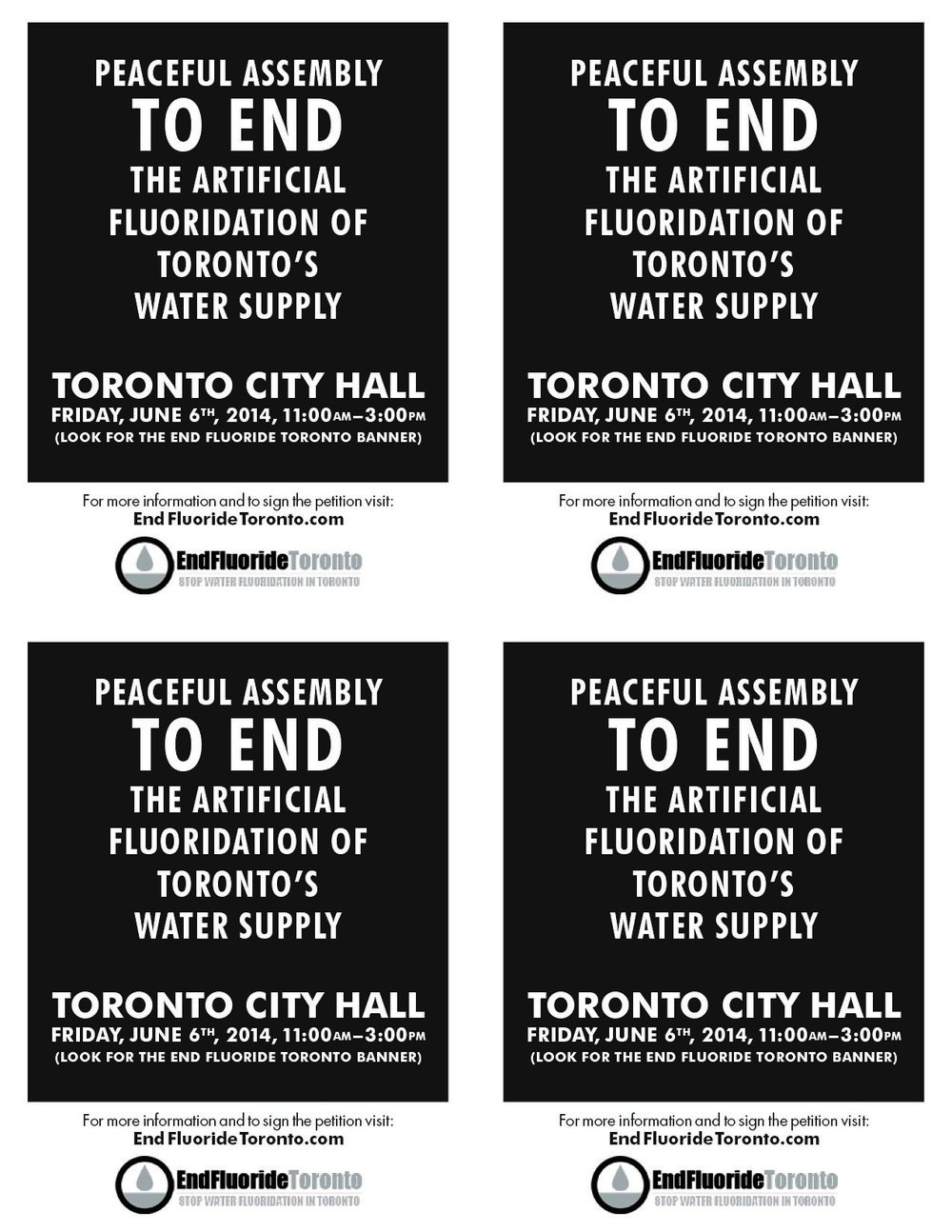 Front Page - Peaceful Assembly to End Artificial Water Fluoridation