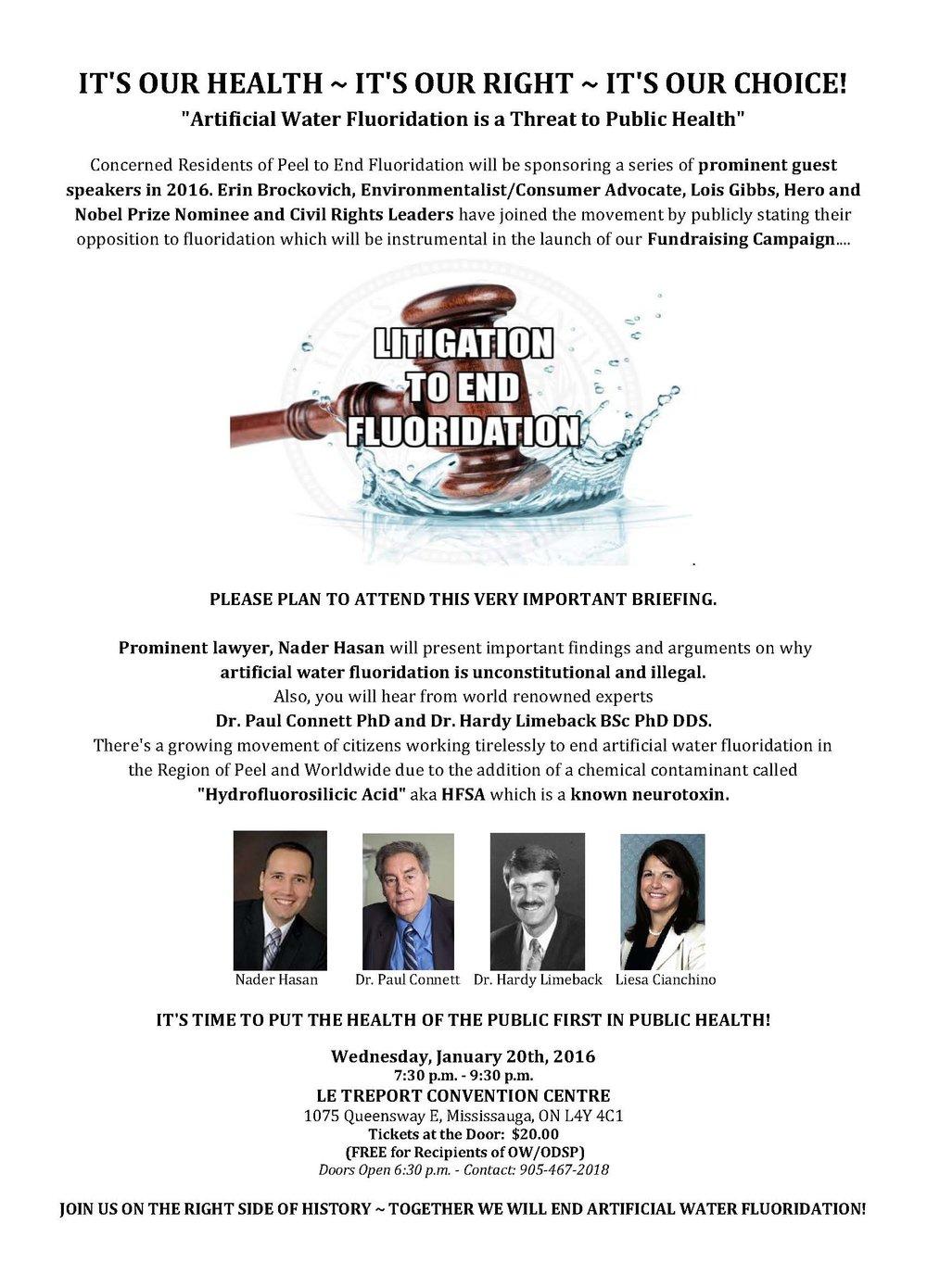 Litigation to End Fluoridation - January 20, 2016
