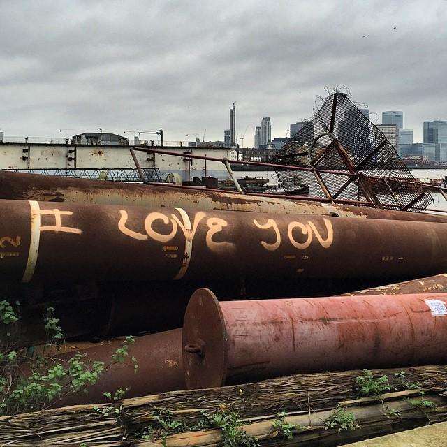 #iloveyou #london (at Greenwich Peninsula)