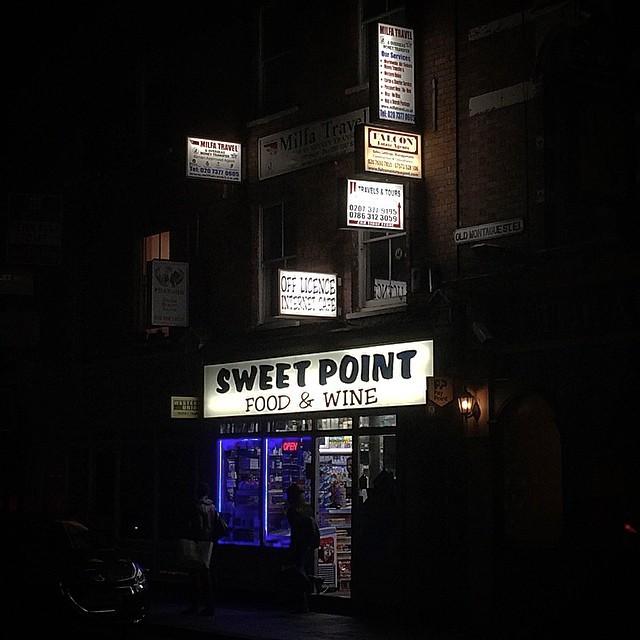 #sweet #point #shop #of #signs (at Brick Lane (Bangla Town))