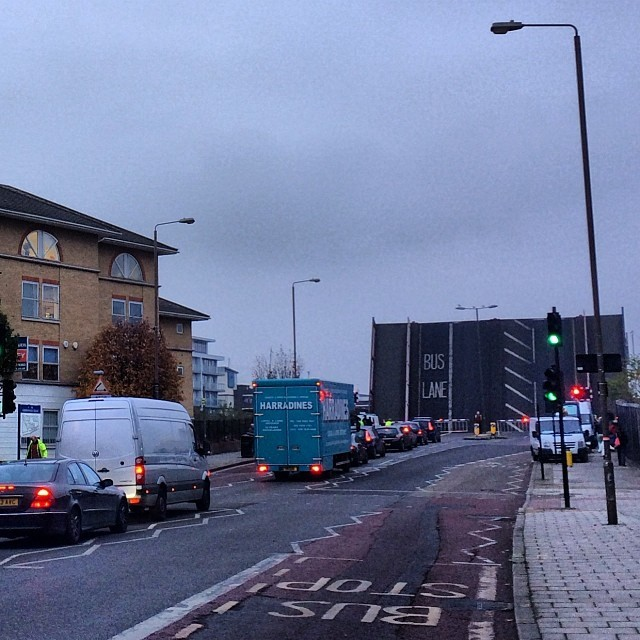 #bus #lane (at Bridge over Deptford Creek)