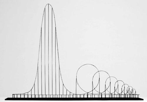 "satans-bacon :     The Euthanasia Coaster is a concept for a steel roller coaster designed to kill its passengers. In 2010, it was designed and made into a scale model by Julijonas Urbonas, a PhD candidate at the Royal College of Art in London. Urbonas, who has worked at an amusement park, stated that the goal of his concept roller coaster is to take lives ""with elegance and euphoria."" It is a ride to the death. The seven loops or ""inversions"" put the human body under such stress that it causes the brain to be starved of oxygen, as the heart simply cannot push blood against the enormous g-forces. Even if it kills you, it is designed to still be a fun death. An honourable thought, if rather macabre."