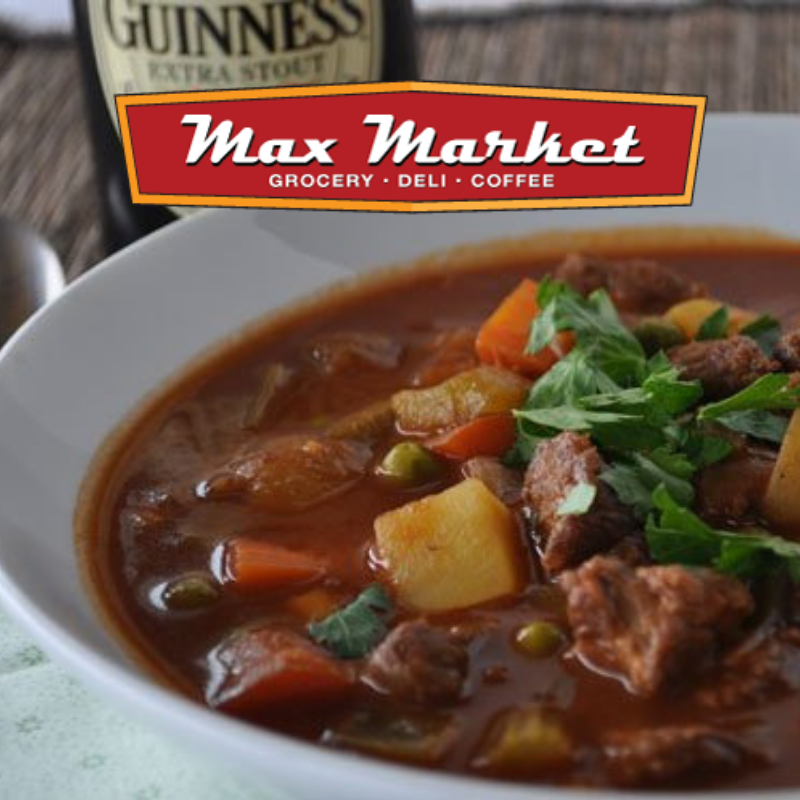Max Market - Guinness Irish Stew, breakfast burritos, and other treats!