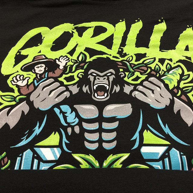 Another spot color on black#screenprinting #promotionalproducts #tshirt #screenprint