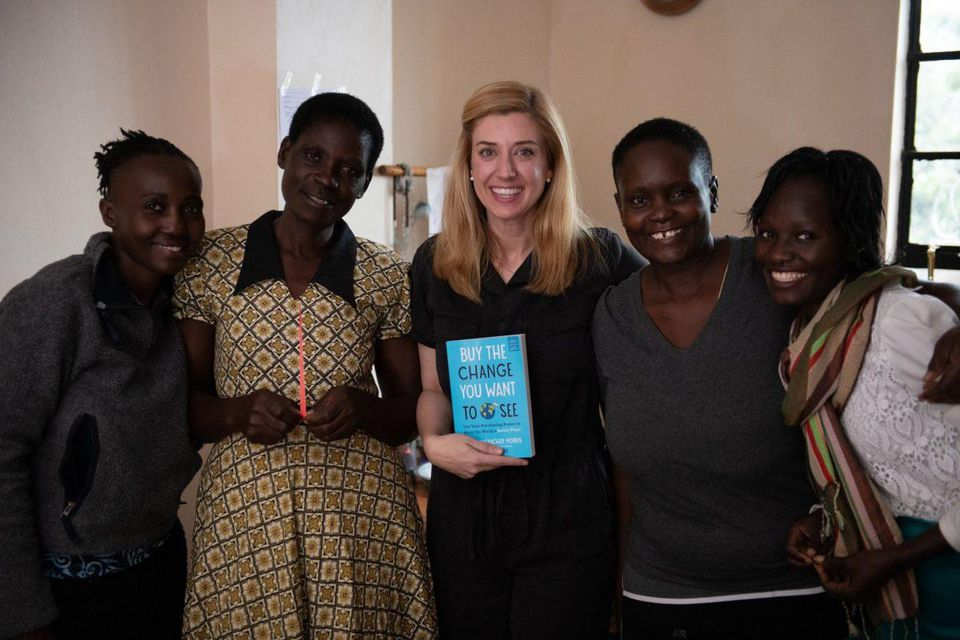 Author Jane Mosbacher Morris in Kenya sourcing products.  PHOTO CREDIT: NEIL RUSKIN