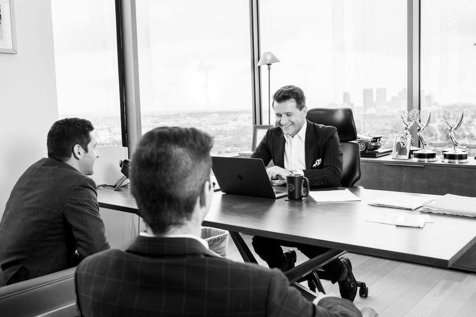 Herjavec modeling his experience as a mentor.   PHOTOGRAPHY BY LESLEY BRYCE