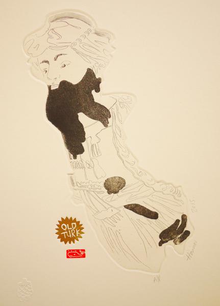 Old Turk, 2015, etching, 22cm x 31cm