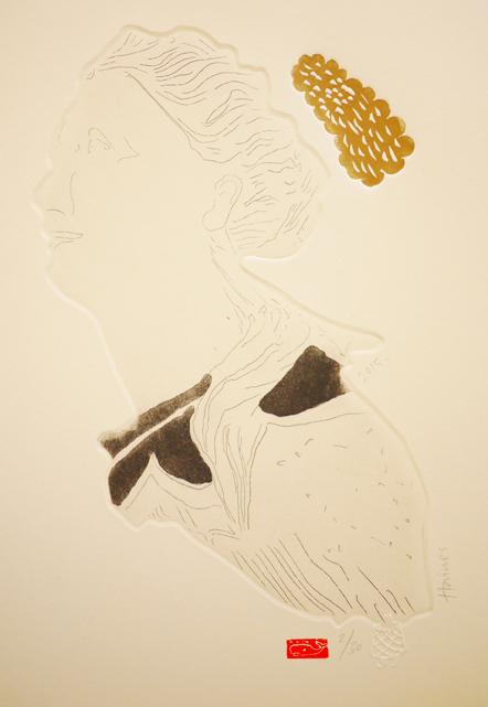 Dreamer, 2015, etching, 22xm 31cm