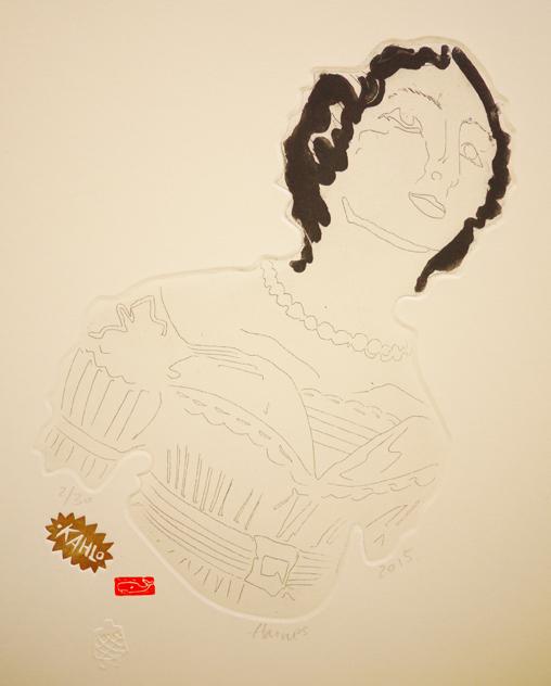 Frida, 2015, etching, 22cm x 31cm