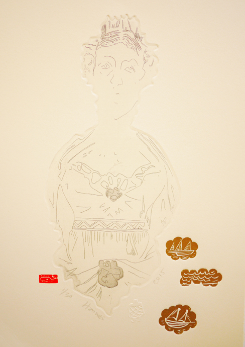 Mary Hay, 2015, etching, 22cm x 31cm