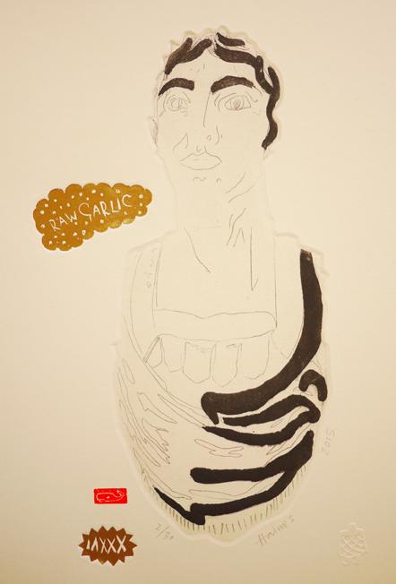 Roman, 2015, etching, 22cm x 31cm