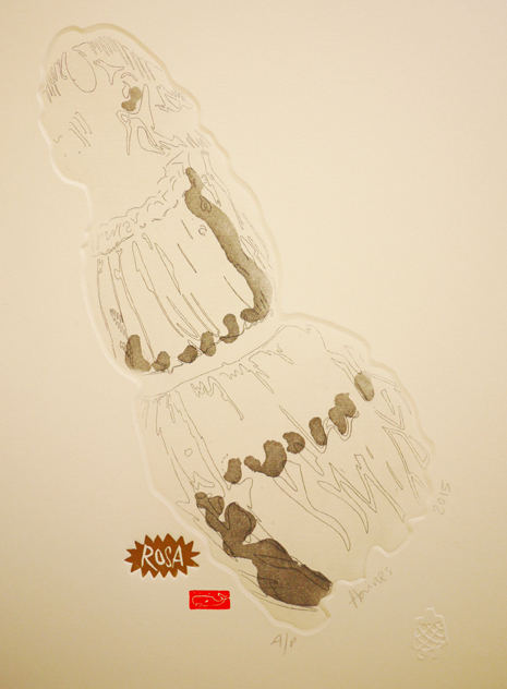 Rosa, 2015, etching, 22cm x 31cm