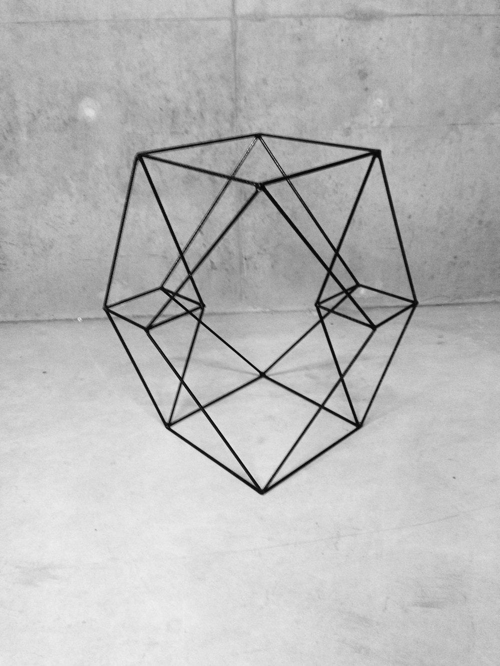 Tesseract #2 - Structure métallique105 x 71 x 95 cm2013