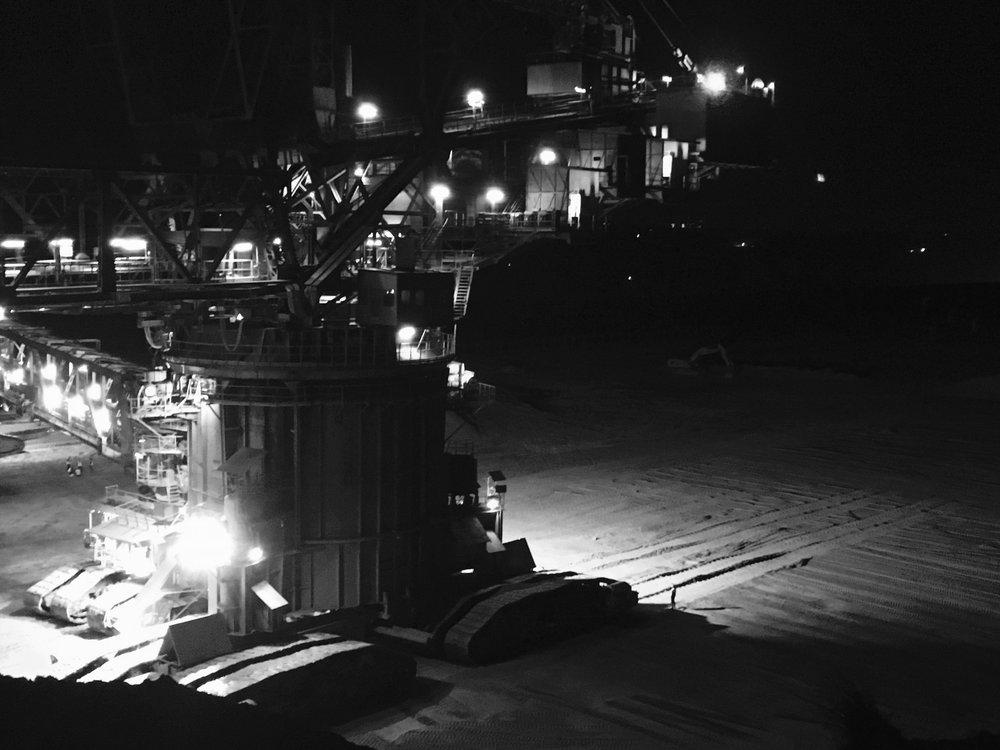 Le  Bagger 288  dans la mine de Hambach.
