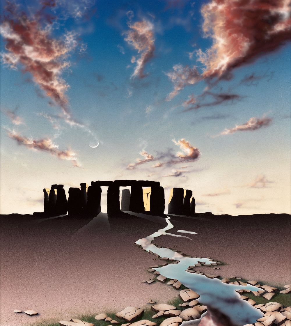 Stonehenge, 1997: Acrylic and varnish on board, 38 x 34 in (97 x 86 cm)