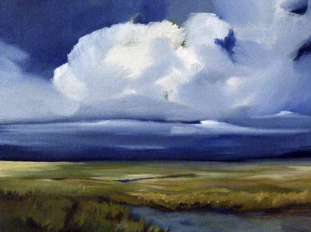 "Illuminate, 9""x12"", Oil landscape painting"
