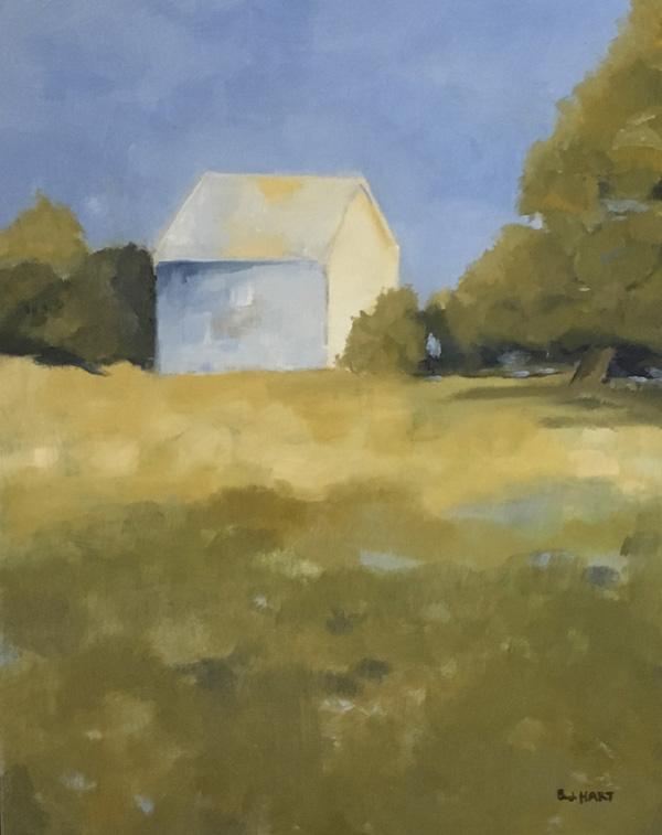 "Morning Light, 9""x12"". Oil landscape painting"