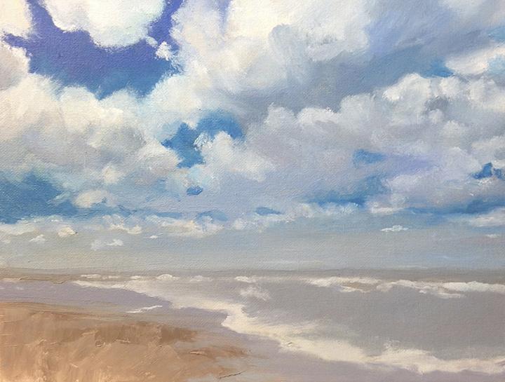 "Summer Spring Stroll, ('x12"", oil on canvas"