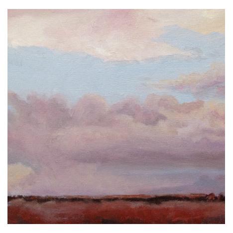 "Along the Horizon, oil on panel, 6"" x 6"", 2015, Barbara J Hart"