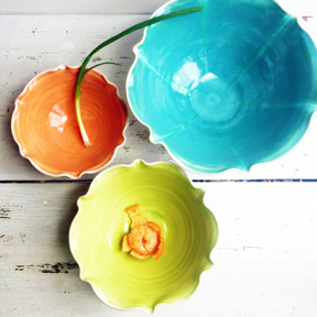 Neon Sea Nesting Bowl Set by Lee Wolfe