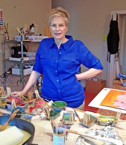 Mary Farmer in her studio.