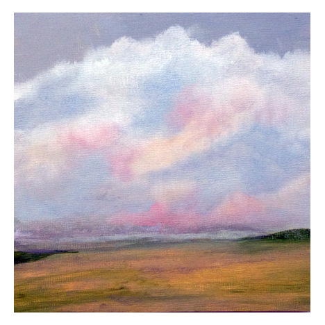 Shoreline Memory-oil on panel-6x6-Barbara J Hart