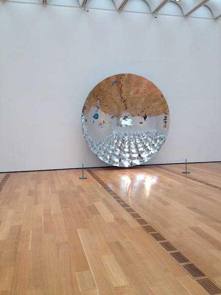 Anish Kapoor, Untitled. Created in concave dish made of stainless steel.
