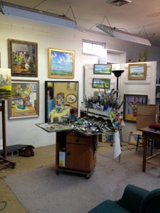 A view of Jack's studio.