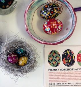 Many lovely Pysanky Eggs by Andrea Kulish
