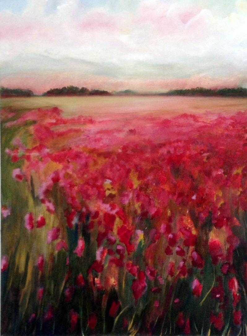 "Acrylic painting on canvas, 18""x24"", Barbara J Hart"