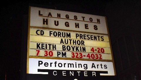 Book signing event at Langston Hughes Performing Arts Center in Seattle.