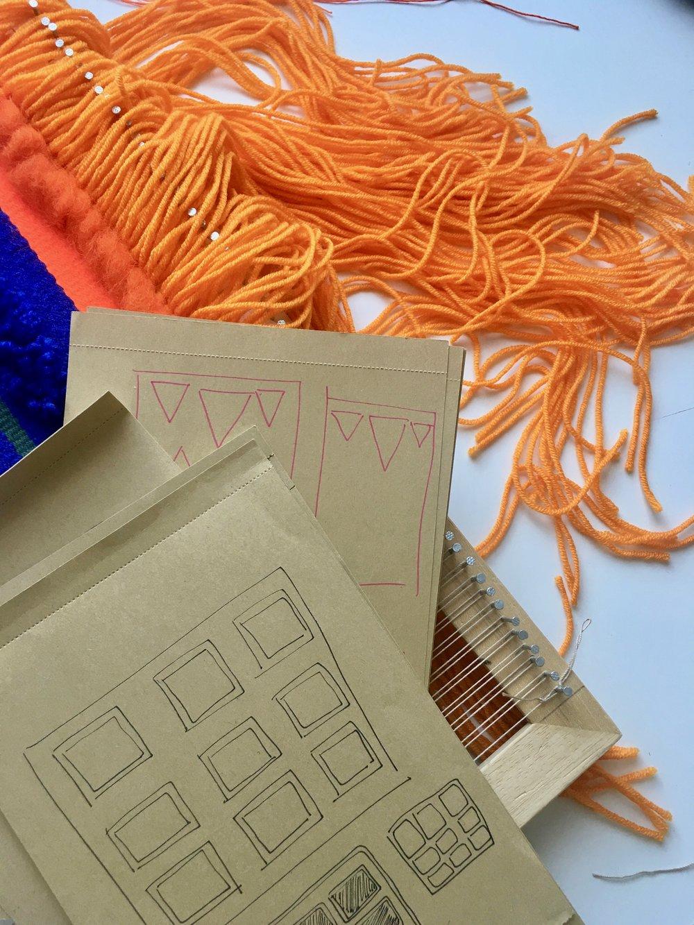 essential weaving tools notepad sketchbook